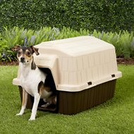 Aspen Pet Petbarn 3 Plastic Dog House, Up to 15-lbs