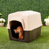 Aspen Pet Petbarn 3 Plastic Dog House, 50-90-lbs