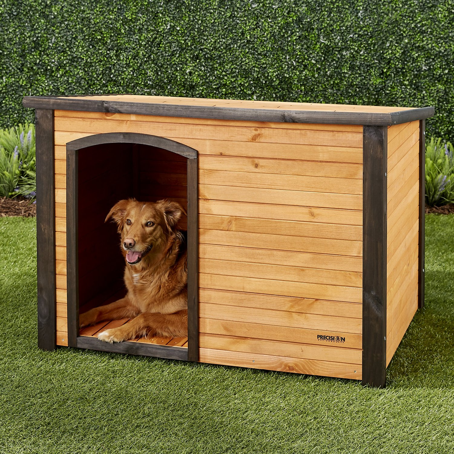 Precision pet products outback log cabin dog house large for Outback log cabin dog house