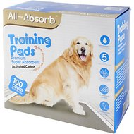 "All-Absorb Training Pads with Activated Carbon, 22"" x 23"", 100 count"