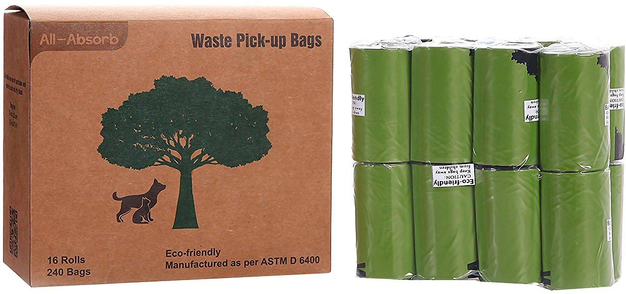 All Absorb Eco Friendly Pet Waste Pick Up Bags 240 Count