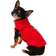 Gooby Fleece Dog & Cat Vest, Red, X-Small