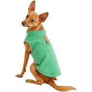 Gooby Fleece Dog & Cat Vest, Green, Medium