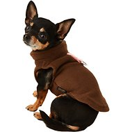 Gooby Fleece Dog & Cat Vest, Brown, X-Small
