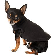 Gooby Stretch Fleece Dog & Cat Vest, Black, X-Small