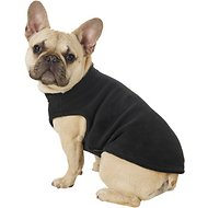 Gooby Stretch Fleece Dog & Cat Vest, Black, Large