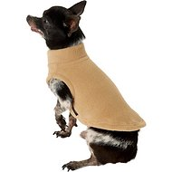 Gooby Stretch Fleece Dog & Cat Vest, Sand, X-Small