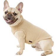 Gooby Stretch Fleece Dog & Cat Vest, Sand, Medium