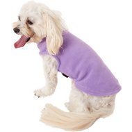 Gooby Stretch Fleece Dog & Cat Vest, Lavender, Medium