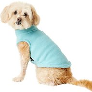 Gooby Stretch Fleece Dog & Cat Vest, Mint, Medium