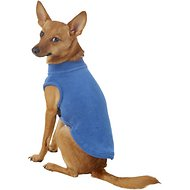 Gooby Stretch Fleece Dog & Cat Vest, Steele Blue, Medium