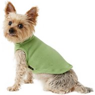 Gooby Stretch Fleece Dog & Cat Vest, Grass Green, Small