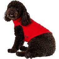Gooby Stretch Fleece Dog & Cat Vest, Red, Medium