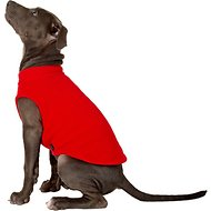 Gooby Stretch Fleece Dog & Cat Vest, Red, Large