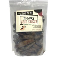 Waveland Paws Beef Meaty Sticks Dog Treats, 10-oz jar