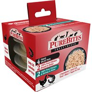PureBites Mixers 100% Chicken Breast & Wild Ocean Shrimp Variety Pack Cat Food Trays, 1.76-oz, case of 4