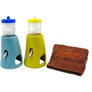 Alfie Pet Small Animal 2-in-1 Water Bottle with Ceramic Hut, 2-Pack