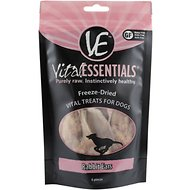 Vital Essentials Rabbit Ears Freeze-Dried Dog Treats, 6 count