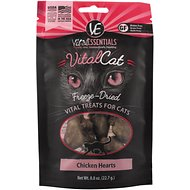 Vital Essentials Chicken Hearts Freeze-Dried Cat Treats, 0.8-oz bag
