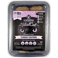Vital Essentials Turkey Mini Patties Entree Freeze-Dried Cat Food, 10.5-oz tub