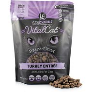 Vital Essentials Turkey Mini Nibs Entree Freeze-Dried Cat Food, 12-oz bag