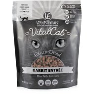 Vital Essentials Rabbit Mini Nibs Entree  Freeze-Dried Cat Food, 12-oz bag