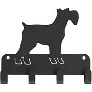 SportHooks Miniature Schnauzer Dog Leash & Key Holder, 6-in