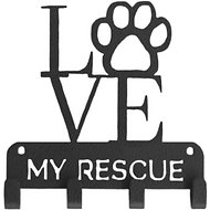 "SportHooks ""Love My Rescue"" Dog Leash & Key Holder, 6-in"