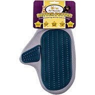Pet Thunder Better Petter Dog & Cat Gentle Grooming Mitt, Grey & Blue
