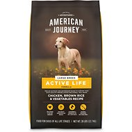 American Journey Active Life Formula Large Breed Chicken, Brown Rice & Vegetables Recipe Dry Dog Food, 28-lb bag