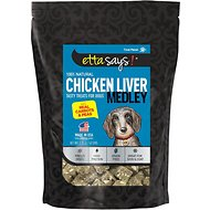Etta Says! Freeze Dried Chicken Liver Medley with Carrots & Peas Dog Treats, 2.25-oz bag