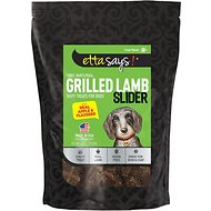 Etta Says! Grilled Lamb Sliders with Real Apple & Flaxseed Dog Treats, 6-oz bag