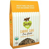 Snicky Snaks Organic Oven Baked Carrot Cake Dog Treats, 10-oz box