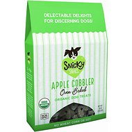 Snicky Snaks Organic Apple Cobbler Oven Baked Dog Treats, 10-oz box