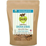 Snicky Snaks Organic Chicken Sliders with Real Sweet Potato Dog Treats, 5.5-oz bag