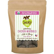 Snicky Snaks Organic Chicken Meatball Soft & Chewy Dog Treats, 5.5-oz bag