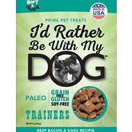I'd Rather Be With My Dog Beef, Bacon & Eggs Recipe Gluten Free Training Dog Treats, 12-oz bag