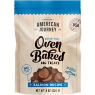American Journey Salmon Recipe Grain-Free Oven Baked Crunchy Biscuit Dog Treats, 8-oz bag
