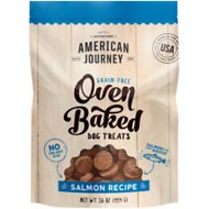 American Journey Salmon Recipe Grain-Free Oven Baked Crunchy Biscuit Dog Treats, 16-oz bag