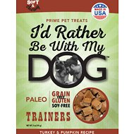 I'd Rather Be With My Dog Paleo Turkey & Pumpkin Recipe Gluten Free Training Dog Treats, 5-oz bag