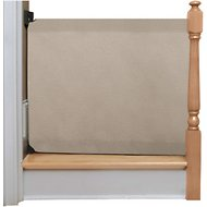 The Stair Barrier Wall to Banister Fabric Gate for Dogs & Cats, Regular, Khaki