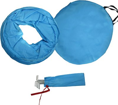 HDP Collapsible Agility Dog Training Tunnel, Blue