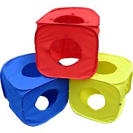 HDP Pop Open Collapsible Play Cube for Cats, Yellow