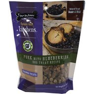 Three Dog Bakery Kitchens Pork and Blueberries Training Dog Treats, 5-oz bag