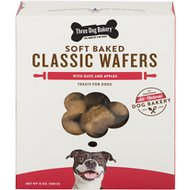 Three Dog Bakery Classic Wafers Apples & Oats Dog Treats, 13-oz bag