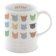Fringe Studio Cat Faces Coffee Mug, 12-oz