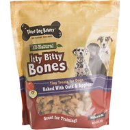 Three Dog Bakery Itty Bitty Bones Apples & Oats Dog Treats, 32-oz bag