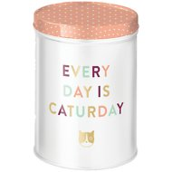 "Fringe Studio ""Every Day Is Caturday"" Cat Treat Tin"