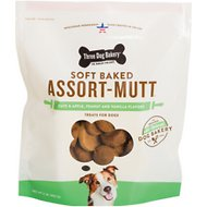 Three Dog Bakery Soft Baked Assort-Mutt Dog Treats, 32-oz bag