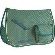 Derby Originals English AP Quilted Horse Saddle Pad with Pockets, Hunter Green
